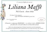 Necrologio di Liliana Maffè ved. Caccia