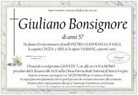 Necrologio di Giuliano Bonsignore.
