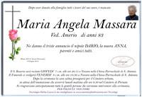 Necrologio di Maria Angela Massara ved. Amerio.