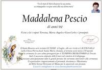 Necrologio di Maddalena Pescio