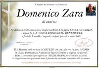 Necrologio di Domenico Zara