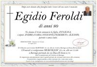 Necrologio di Egidio Feroldi