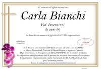 Necrologio di Carla Bianchi ved. Invernizzi
