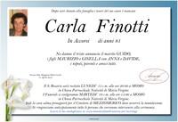 Necrologio di Carla Finotti
