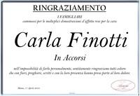 Ringraziamento per Carla Finotti