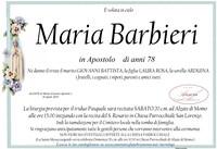 Necrologio di Maria Barbieri