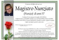 Necrologio di Magistro Nunziato