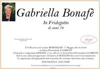 Necrologio di Gabriella Bonafè