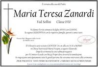 Necrologio di Maria Teresa Zanardi