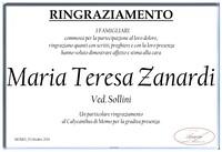 Ringraziamento per Maria Teresa Zanardi