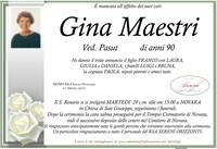 Necrologio di Gina Maestri