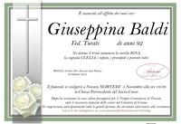 Necrologio di Giuseppina Baldi ved. Turati