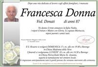 Necrologio di Francesca Donna