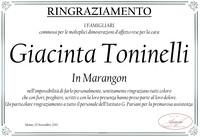 Ringraziamento per Giacinta Toninelli