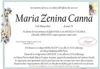 Necrologio di Maria Zenina Canna ved. Matacchini