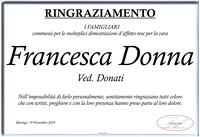 Ringraziamento per Francesca Donna