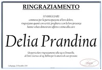 Ringraziamento per Delia Prandina