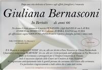 Necrologio di Giuliana Bernasconi