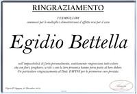 Ringraziamento per Egidio Bettella
