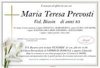 Necrologio di Maria Teresa Prevosti