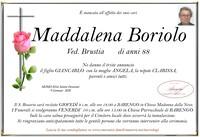 Necrologio di Maddalena Boriolo