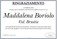 Ringraziamento per Maddalena Boriolo
