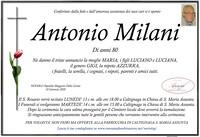 Necrologio di Antonio Milani