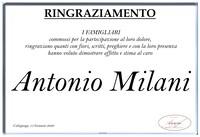 Ringraziamento per Antonio Milani