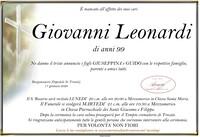 Necrologio di Leonardi Giovanni