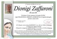 Necrologio di Dionigi Zaffaroni