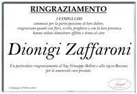 Ringraziamento per Dionigi Zaffaroni