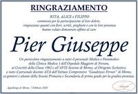 Ringraziamento per Pier Giuseppe Torgano