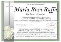Necrologio di Maria Rosa Raffa