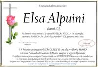 Necrologio di Elsa Alpuini