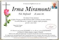 Necrologio di Irma Miramonti ved. Stefanoli
