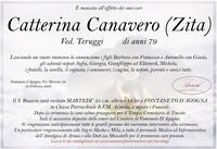 Necrologio di Catterina Canavero