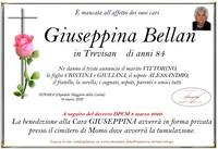 Necrologio di Giuseppina Bellan
