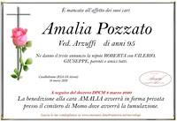 Necrologio di Amalia Pozzato ved. Arzuffi