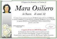 Necrologio di Mara Osilero in Sacco