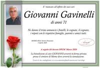Necrologio di Giovanni Gavinelli