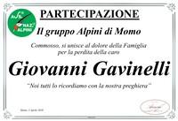 Ringraziamento per Giovanni Gavinelli