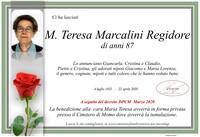 Necrologio di Maria Teresa Marcalini Regidore