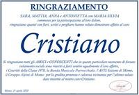 Ringraziamento per Cristiano Vandoli