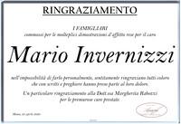 Ringraziamento per Mario Invernizzi
