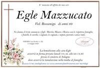 Necrologio di Egle Mazzucato ved. Rossanigo