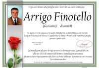 Necrologio di Arrigo Finotello