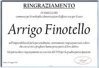 Ringraziamento per Arrigo Finotello