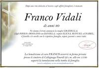 Necrologio di Franco Vidali