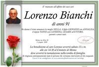 Necrologio di Lorenzo Bianchi