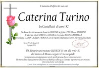 Necrologio di Caterina Turino in Castelletti